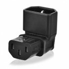CY PW-142 IEC Male C14 to Angled IEC Female C13 Power Adapter - Black