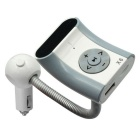 Bluetooth Car Hands-free FM Transmitter MP3 Player USB Charger - White