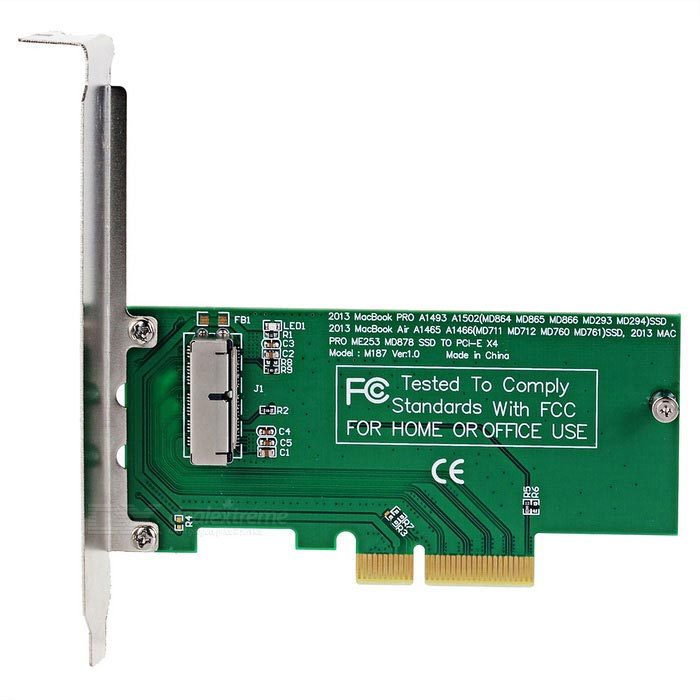 SSD solid state disk pci-e karty adaptéru pro MacBook Air PRO - zelená