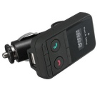 301E Wireless Bluetooth Car Kit Handsfree FM Transmitter - Black