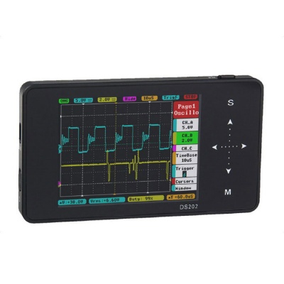 "DS202 3"" TFT LCD Portable Pocket Digital Oscilloscope - Black"