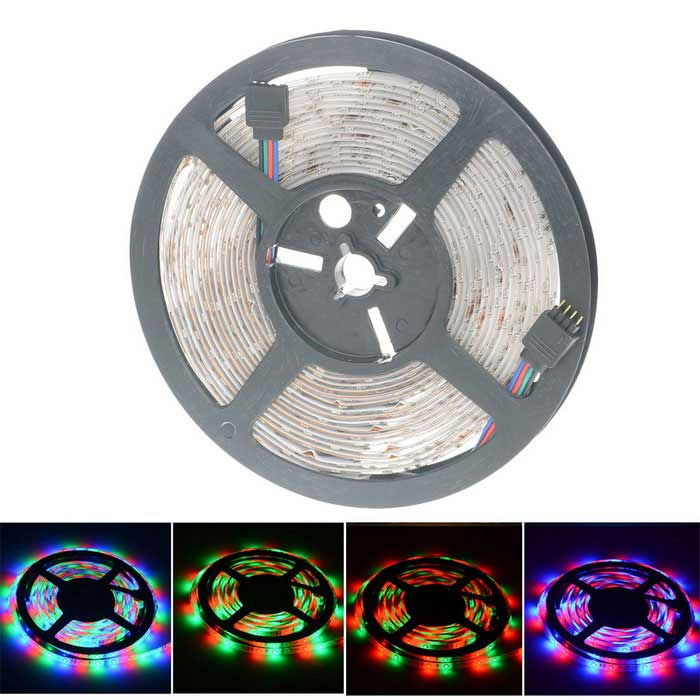 HML High Light 24W 300 x SMD 2835 LED Waterproof RGB Light Strip (5m)Other SMD Strips<br>Form  ColorWhiteColor BINRGBMaterialPlastic + LEDQuantity1 DX.PCM.Model.AttributeModel.UnitPower24WRated VoltageDC 12 DX.PCM.Model.AttributeModel.UnitChip BrandOthers,N/AEmitter TypeOthers,2835 SMDTotal Emitters300Color TemperatureN/AWavelength635 (Red) / 530 (Green) / 465 (Blue)Theoretical Lumens2400 DX.PCM.Model.AttributeModel.UnitActual Lumens2100 DX.PCM.Model.AttributeModel.UnitPower AdapterOthers,WiredCertificationCE FCC ROHSPacking List1 x LED Light strip<br>