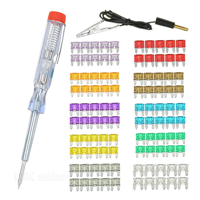 Buy IZTOSS 2~35A Small Car Blade Fuses Kit w/ Electroprobe (100PCS) with Litecoins with Free Shipping on Gipsybee.com