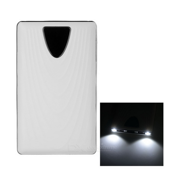 3-USB 4000mAh Power Bank w/ 2 LED for Cellphone / Camera +More - White