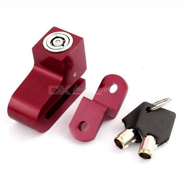 CARKING Scooter Security Anti-Theft Metal Disk Brake Wheel Lock - Red