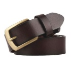 Fanshimite ZK01 Herren Pin Buckle Leather Belt - Braun (110cm)