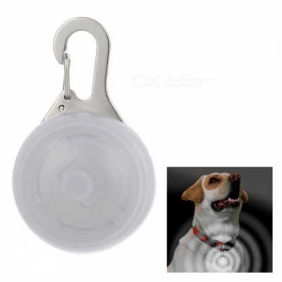 White Light Clip-on LED Light Collar Pendant for Pet Dog Cat - White