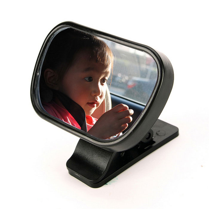 Buy IZTOSS Car Adjustable Car Baby Safety Seat Rearview Mirror - Black with Litecoins with Free Shipping on Gipsybee.com