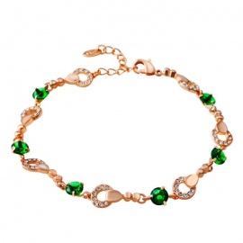 Xinguang-Womens-Pure-Fine-Crystal-Inlaid-Bracelet-Rose-Golden