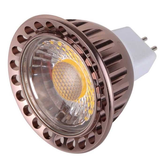 MR16 9W COB LED Bulb Spotlight Warm White Light 3000K - Brown + WhiteMR16<br>Form  ColorBrown + WhiteColor BINWarm WhiteMaterialAluminum + PCQuantity1 DX.PCM.Model.AttributeModel.UnitPower9WRated VoltageOthers,AC/DC 12 DX.PCM.Model.AttributeModel.UnitConnector TypeMR16Emitter TypeCOBTotal Emitters1Actual Lumens1020 DX.PCM.Model.AttributeModel.UnitTheoretical Lumens810 DX.PCM.Model.AttributeModel.UnitColor Temperature3000KDimmableNoBeam Angle180 DX.PCM.Model.AttributeModel.UnitPacking List1 x Bulb<br>