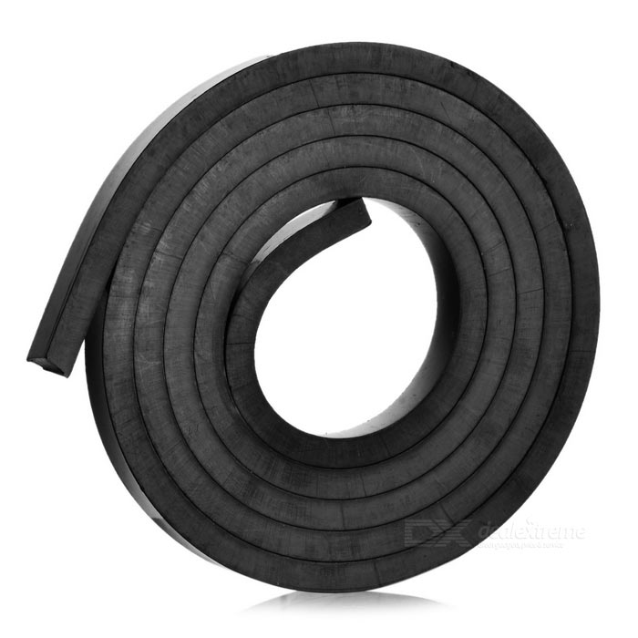 1000*10*5mm Double-Sided Flexible Magnetic Strip Tape Magnet - Black
