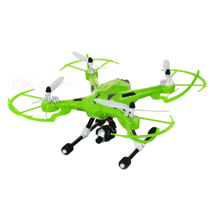 JJRC H26D R/C Quadcopter Drone w/ Gyro amp 360' Tumble amp Camera - Green / White