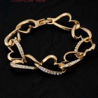 Xinguang kvinnors kärlek Relay Crystal Gold Bracelet - Golden