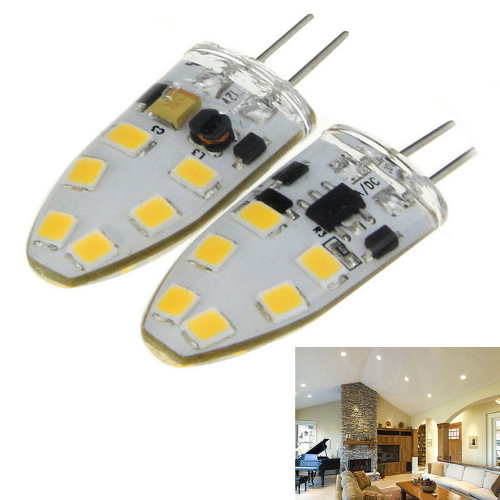 Buy G4 5W LED Light Bulb Lamp Warm White 3000K 600lm 12-SMD 2835 (2PCS) with Litecoins with Free Shipping on Gipsybee.com
