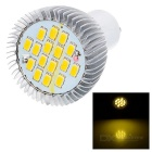 GU10 7W LED Bulb Lamp Warm White Light 3000K 480lm 16-SMD - Silver
