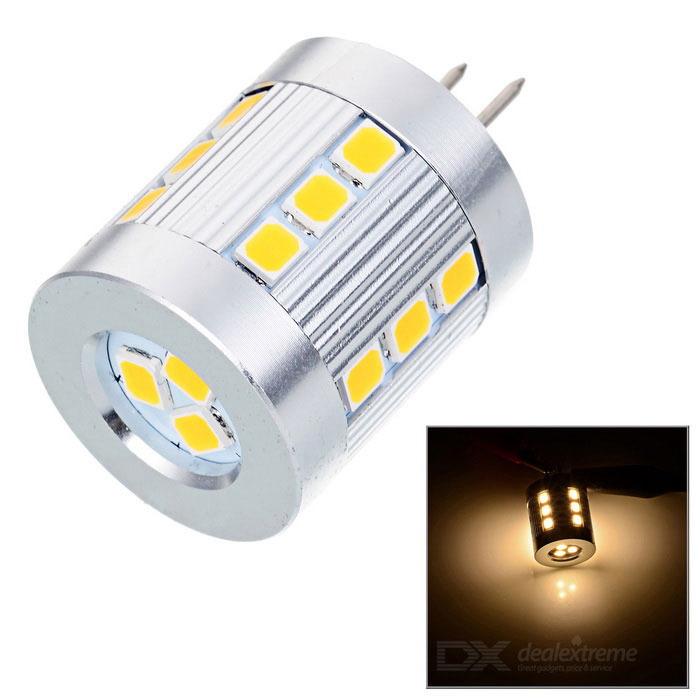 G4 2.5W 180lm 21-SMD 2835 LED 3500K Warm White Light - Silver (12V)G4<br>Form  ColorSilver + OrangeColor BINWarm WhiteMaterialAluminiumQuantity1 DX.PCM.Model.AttributeModel.UnitPowerOthers,2.5WRated VoltageOthers,12 DX.PCM.Model.AttributeModel.UnitConnector TypeG4Chip BrandEpistarEmitter TypeOthers,2835 SMD LEDTotal Emitters21Actual Lumens150~180 DX.PCM.Model.AttributeModel.UnitColor Temperature12000K,Others,2500~3500KDimmableNoPacking List1 x Lamp<br>