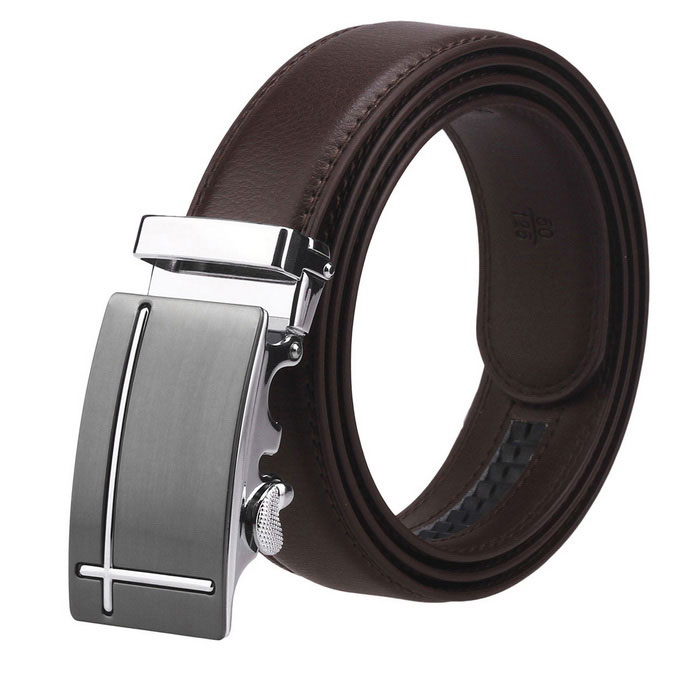 Fanshimite J15 Mens Automatic Buckle Cow Split Leather Belt - Brown (115cm)Belts and Buckles<br>Form  ColorBrown-115ModelJ15Quantity1 DX.PCM.Model.AttributeModel.UnitShade Of ColorBrownMaterialCowhideGenderMenSuitable forAdultsPatternGeometryBelt Length115 DX.PCM.Model.AttributeModel.UnitBelt Width3.5 DX.PCM.Model.AttributeModel.UnitPacking List1 x Belt 1 x Non-woven bag<br>
