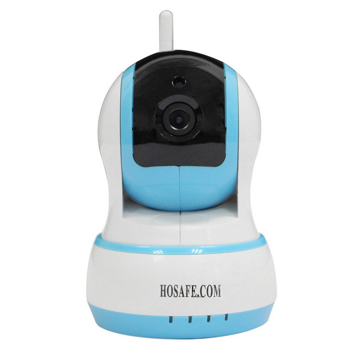 HOSAFE CMOS 1.0MP Security IP Camera w/ 10-IR-LED Kit - Blue (EU Plug)IP Cameras<br>Form  ColorBlue + WhitePower AdapterEU PlugModelHOSAFE-1MW20MaterialABS materialQuantity1 DX.PCM.Model.AttributeModel.UnitImage SensorCMOSImage Sensor SizeOthers,1/4 InchPixels1.0MPLens3.6mmViewing Angle90 DX.PCM.Model.AttributeModel.UnitVideo Compressed FormatH.264Picture Resolution1280x720PFrame Rate25fpsInput/OutputMicrophone + speakerAudio Compression FormatMP3,WAVMinimum Illumination0 DX.PCM.Model.AttributeModel.UnitNight VisionYesIR-LED Quantity10Night Vision Distance10 DX.PCM.Model.AttributeModel.UnitWireless / WiFi802.11 b / g / nNetwork ProtocolTCP,IP,UDP,HTTP,DHCP,uPnPSupported SystemsXP,Vista,7Supported BrowserOthers,Does not supportSIM Card SlotNoOnline Visitor5IP ModeDynamic,StaticMobile Phone PlatformAndroid,iOSFree DDNSYesIR-CUTYesBuilt-in Memory / RAMNoLocal MemoryYesMemory CardTF CardMax. Memory Supported32GMotorYesRotation AnglePan: 355 degrees; Tilt: 120 degreesZoomDigital ZoomSupported LanguagesEnglish,Simplified ChineseWater-proofNoRate Voltage5VRated Current2 DX.PCM.Model.AttributeModel.UnitPacking List1 x IP camera1 x Power adapter (AC 100~240V / EU plug / 90cm-cable)1 x Bracket1 x Screws kit1 x English user manual 1 x Wireless door contacts<br>