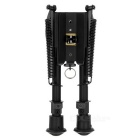 "20mm Mount 6"" Retractable Aluminum Alloy Bipod for M4 Rifile - Black"