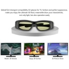 Universal 3D IR ja Bluetooth Active Shutter Glasses TV-lasit - musta