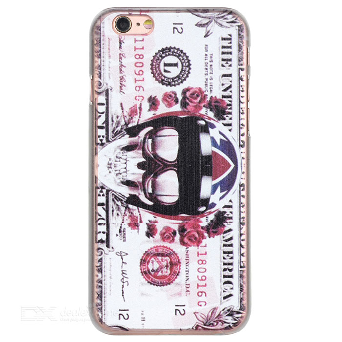Dollar + Skull Pattern Back Case for IPHONE 6/6S - White + MulticolorPlastic Cases<br>Form  ColorWhite + MulticolorQuantity1 DX.PCM.Model.AttributeModel.UnitMaterialPlasticCompatible ModelsIPHONE 6S,IPHONE 6DesignMixed Color,GraphicStyleBack CasesPacking List1 x Back case<br>