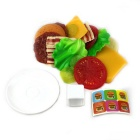 Simulation Stacked Hamburger Toy - Yellow + Red + Multi-Color