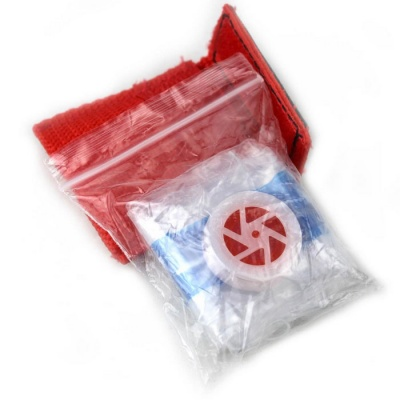 CPR Life Key First Aid Mask Disposable Breathing PVC Face Mask - Red