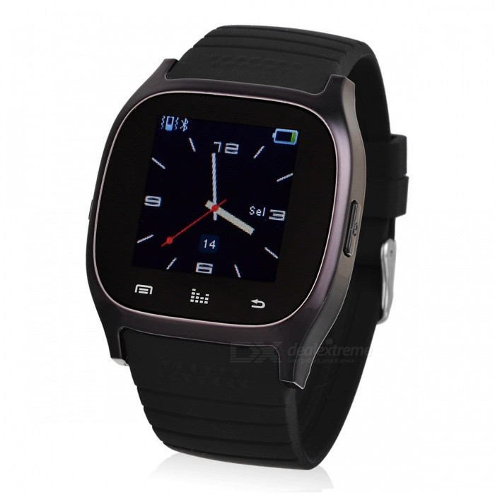 M26 BT Smart Watch w/ Phone Call Music Player for IOS Android - BlackSmart Watches<br>Form  ColorBlackQuantity1 pieceMaterialSteel + SiliconeShade Of ColorBlackCPU ProcessorMTK6260Bluetooth VersionBluetooth V3.0Touch Screen TypeTFTOperating SystemNoCompatible OSAndroid 2.3 and above, IOSWater-proofYesBattery Capacity230 mAhBattery TypeLi-ion batteryStandby Time180 hoursScreen Size1.4 inchScreen Resolution128 x 128LanguageArabic, Dutch, English, Finnish, French, German, Hebrew, Indonesian, Italian, Korean, Polish, Portuguese, Romanian, Russian, Spanish, Swedish, Thai, Turkish, VietnameseWristband Length27 cmBattery ModeNon-removablePacking List1 x Smart watch1 x USB charging cable (55cm)1 x Chinese / English user manual<br>