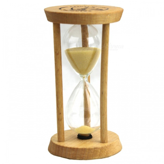 Three Minutes Beach Hourglass Time Desktop Decoration - Wood Color
