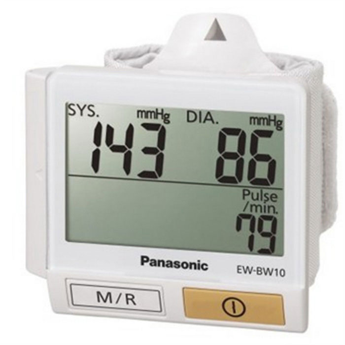 Buy Panasonic EW-BW10 Wrist Blood Pressure Meter-White (2 AAA) with Litecoins with Free Shipping on Gipsybee.com