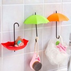 Umbrella Style Hooks Decorative Small Objects - Multicolored (3 PCS)
