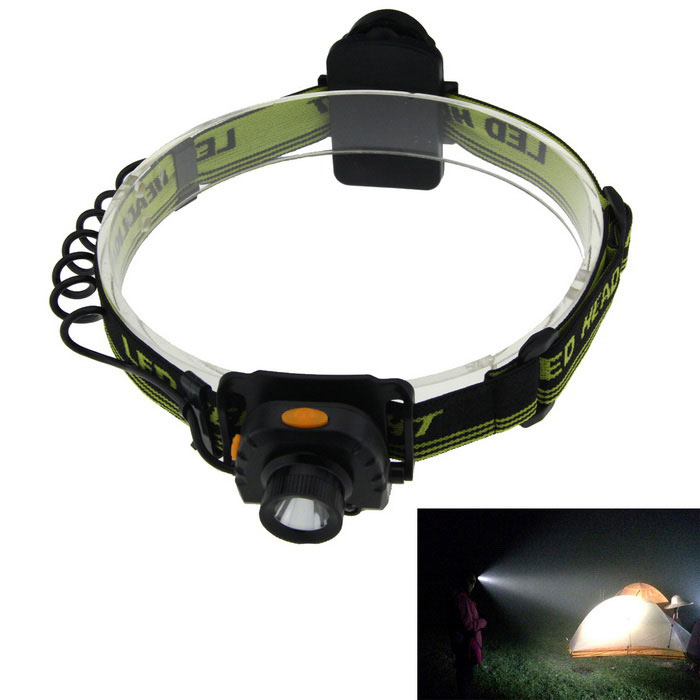 Smart Sensing 180lm Cold White LED Headlight - Black + Green (3*AAA)