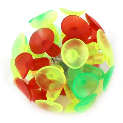 Flash Luminescence Plaything Suction Cup Ball - Multicolored
