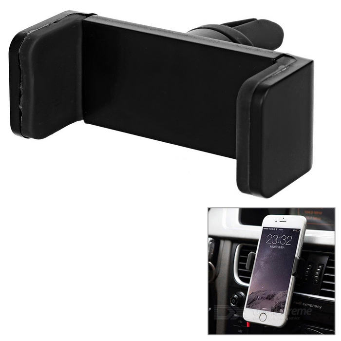 Buy Universal Car Air Vent Mount Phone Holder - Black with Litecoins with Free Shipping on Gipsybee.com