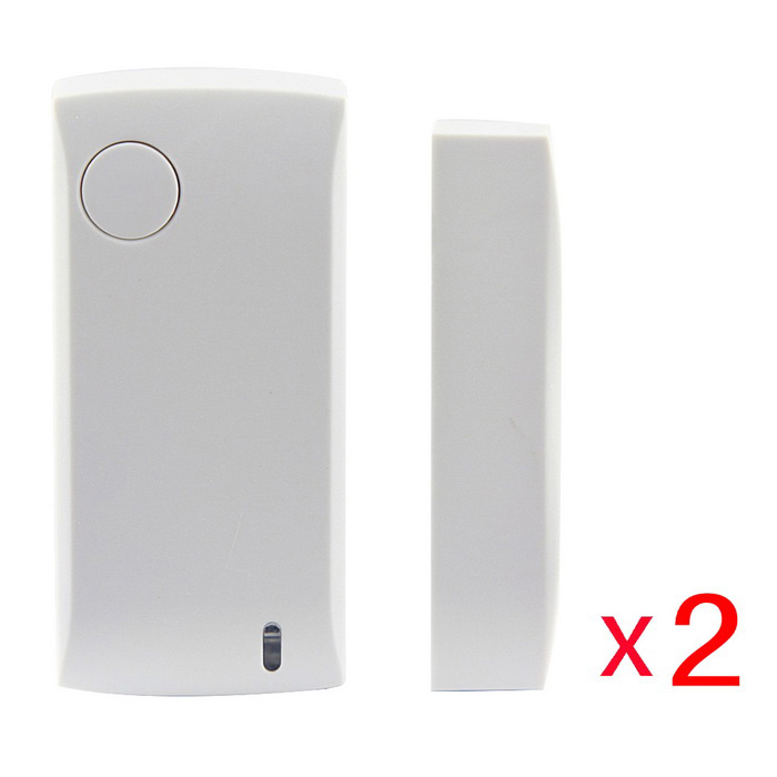 Ag-Security 433Mhz Wireless Door Sensor Magnetic Contact - White (2PC
