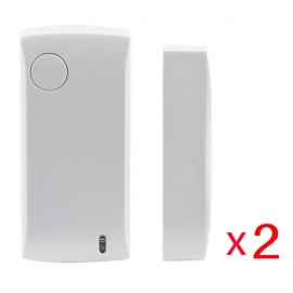 Ag-Security-433Mhz-Wireless-Door-Sensor-Magnetic-Contact-White-(2PC