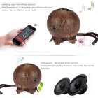 Bluetooth Stereo Speaker Met Mic, 2-Spreker, Hands-Free, Coconut Shell