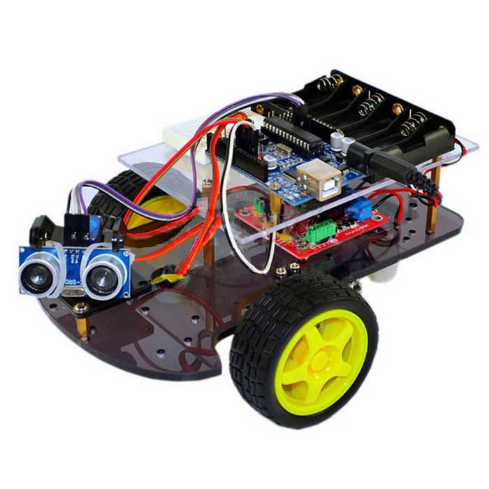 Kit ultrasuoni intelligente Wheel Robot auto per Arduino