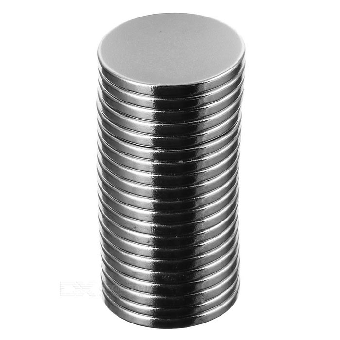 Round D18 x 2mm NdFeB Magnets - Silver (20PCS)Magnets Gadgets<br>Form ColorWhite SilverMaterialNdFeBQuantity1 SetNumber20Suitable Age 12-15 Years,GrownupsPacking List20 x Magnets<br>
