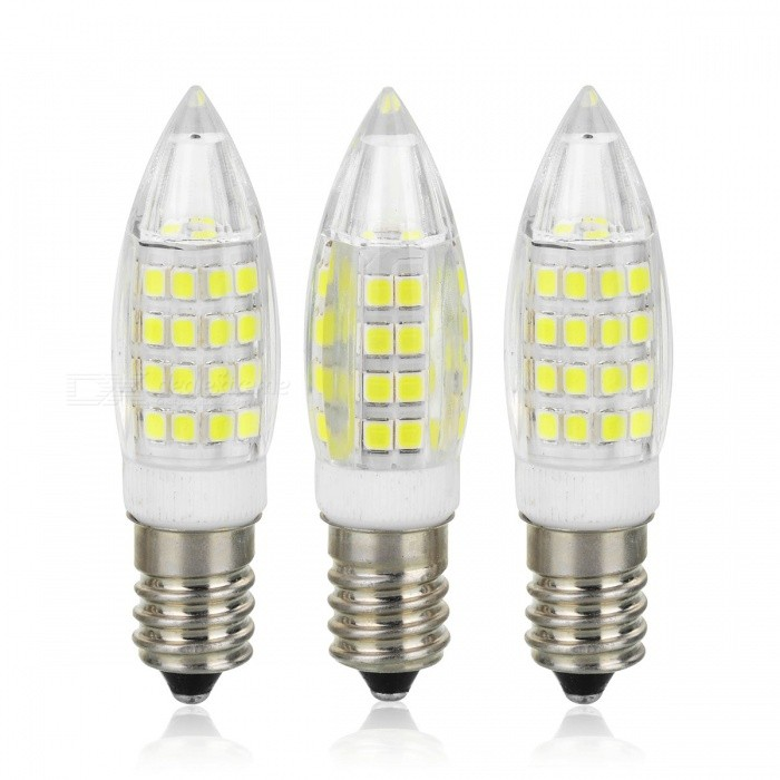 E14 5W LED Bulb Lamp Cold White /Warm White Light 51SMD 2835 Bullet Shape