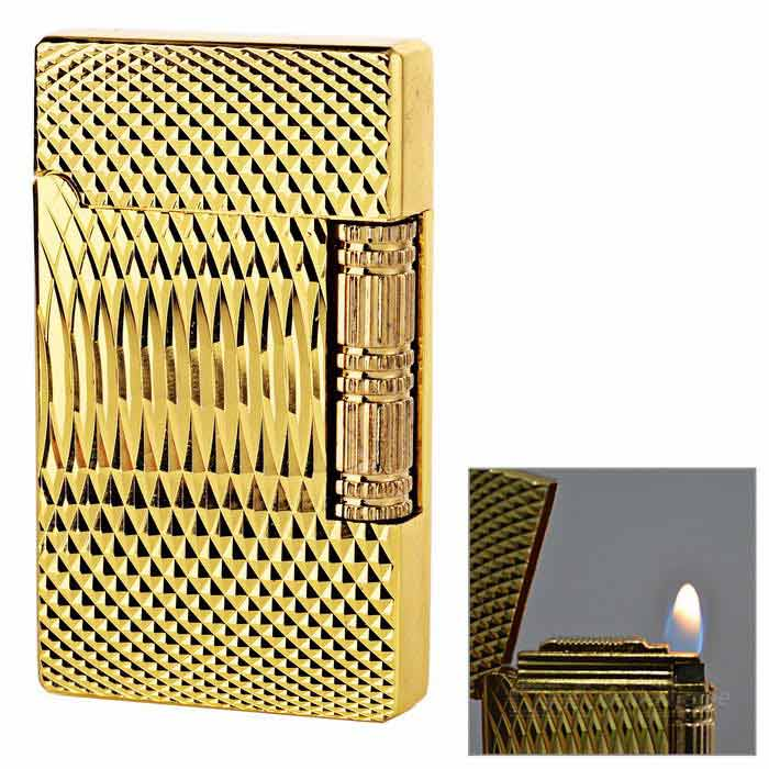Classic Design Butane Gas Cigarette Lighter - Golden