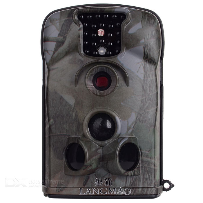 LANGMAO 12MP Jagd-Scouting Trail Video Kamera Camcorder w / 25-LED IR Nachtsicht / TV-Out / SD