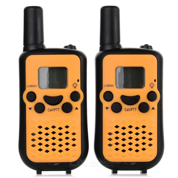"Beihaidao Mode Portable 0,8 ""22 CH-400 ~ 470MHz Mini Walkie Talkie w / lampe de poche - noir + jaune"