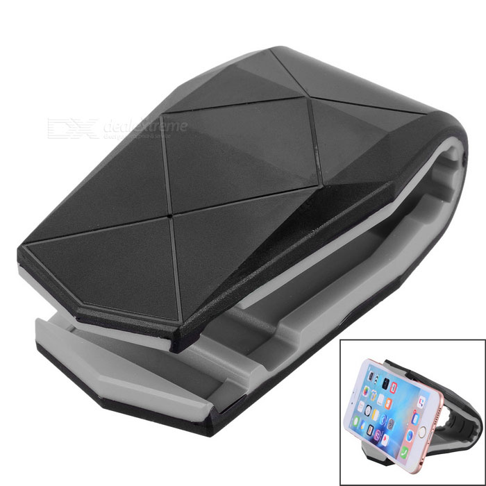 Plastic Car Mount Holder Clip for Cellphone / GPS Navigator / IPAD / IPHONE - Black + GreyGPS Holders<br>Form  ColorBlack + GreyModelN/AQuantity1 DX.PCM.Model.AttributeModel.UnitMaterialPlasticApplicable ProductsIPHONE 5,IPHONE 4,IPHONE 4S,IPHONE 3G,IPAD,CellphoneAdjustable Height10cmAdjustable Width:10cmRotationOthers,0 DX.PCM.Model.AttributeModel.UnitMax. Load500 DX.PCM.Model.AttributeModel.UnitPacking List1 x Clip1 x Double-sided adhesive tape1 x Cleaning cloth<br>
