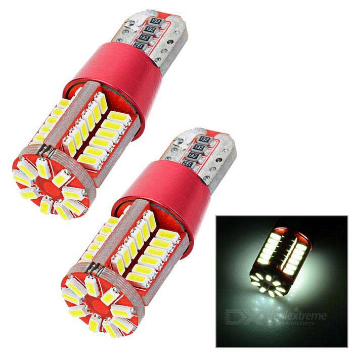 T10 3.5W LED Car Steering Light / Backup Lamp White 5963K 242lm 57-SMD 4014 (AC 12V / 2PCS)Tail Lights<br>Color BINWhiteModelN/AQuantity1 DX.PCM.Model.AttributeModel.UnitMaterialAluminumForm  ColorRed + Yellow + Multi-ColoredEmitter TypeOthers,4014Chip BrandOthersChip Type4014Total EmittersOthers,57PowerOthers,3.5WColor Temperature5963 DX.PCM.Model.AttributeModel.UnitActual Lumens242 DX.PCM.Model.AttributeModel.UnitRate Voltage12VWaterproof FunctionNoConnector TypeT10ApplicationBackup light,License plate light,Steering lightPacking List2 x Lights<br>
