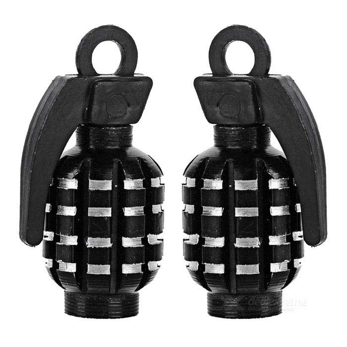 CTSmart Grenade Style Bike / Motorcycle Wheel Tire Tyre Valve Dust Cap Cover - Black (2pcs)Form  ColorBlackQuantity2 DX.PCM.Model.AttributeModel.UnitMaterialAluminum alloyBest UseCycling,Mountain Cycling,Bike commuting &amp; touringSuitable forAdultsTypeOthers,Valve capCertificationCEPacking List2 x Valve caps<br>