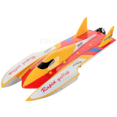 Wltoys WL913 2.4GHz Brushless Motor High Speed Racing RC Boat w/ Water Cooling System - Red + Yellow