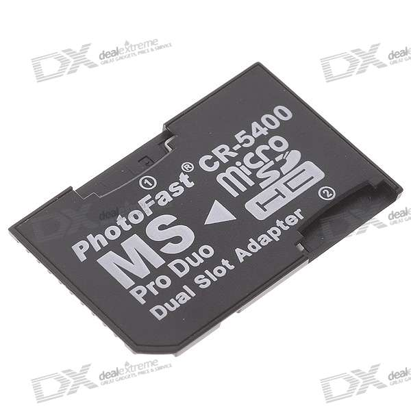Micro SD / TF to MS Pro Duo Adapter - Black