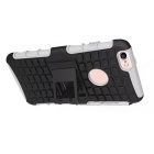 Protective ABS Back Cover Armor Case w/ Stand for IPHONE 6S plus - White + Black