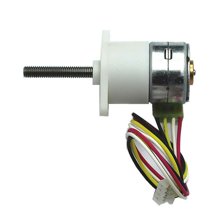 15BY2 Phase Four Wire Miniature Stepper Gear Box Motor M3 Screw Shaft 12VDIY Parts &amp; Components<br>Model15BY-298-20M3-KQuantity1 DX.PCM.Model.AttributeModel.UnitForm ColorWhiteMaterialABS + Cu + Fe + steelChipsetDC stepper drive two-phase four wireEnglish Manual / SpecNoCertificationNoPacking List1 x Step gear motor<br>
